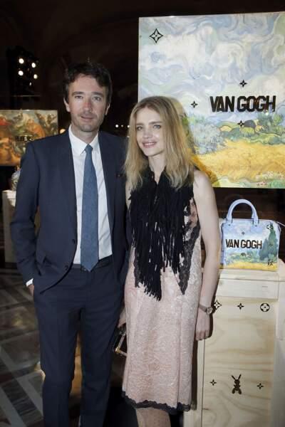 Soirée Louis Vuitton x Jeff Koons au Louvre : Antoine Arnault et sa compagne Natalia Vodianova
