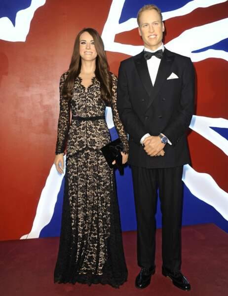 Kate Middleton et le prince William au Madame Tussauds de Berlin