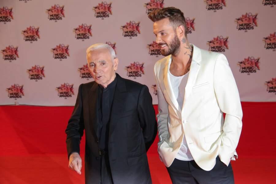 Charles Aznavour et M Pokora