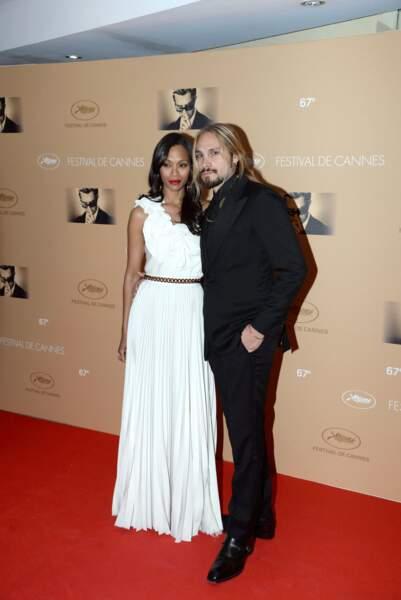Ces stars parents de jumeaux : Zoe Saldana et Marco Perego