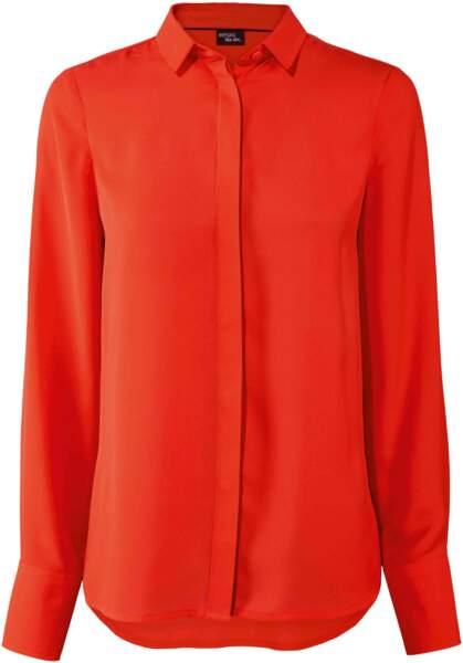 Blouse rouge en polyester, 9,99 €, Lidl Esmara by Heidi Klum