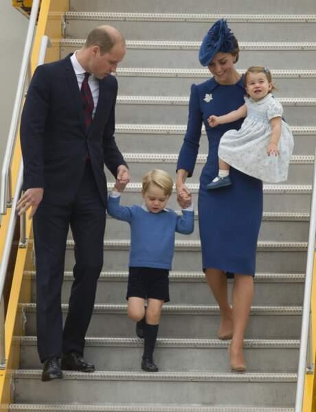 Premier grand voyage officiel pour toute la famille, partie au Canada