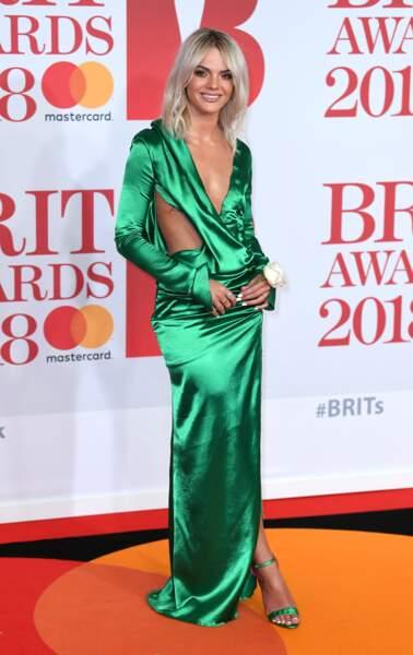 Louisa Johnson aux Brit Awards 2018, le 21 février à Londres