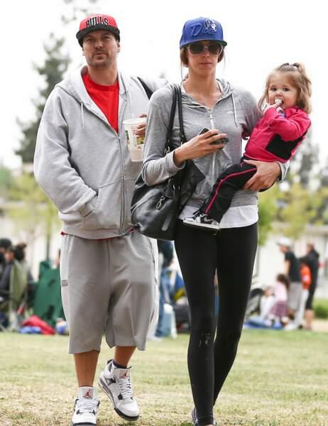Kevin Federline et sa compagne Victoria et leur fille Jordan