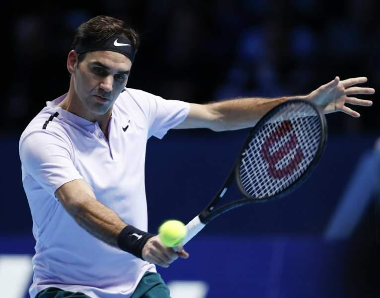 La 7ème place revient à Roger Federer et ses exploits au tennis