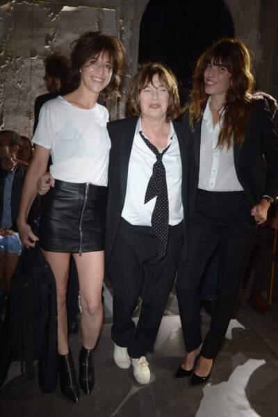 Fashion Week défilé Saint Laurent : Réunion de famille pour Charlotte Gainsbourg, Jane Birkin et Lou Doillon
