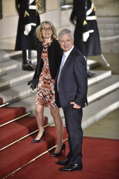 Claude Bartolone, le président de l'Assemblée nationale, et son épouse