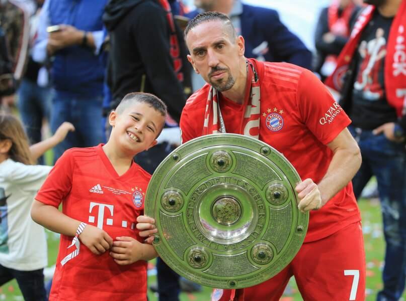 Franck Ribéry et son fils