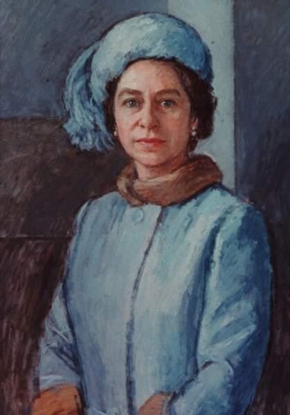 Le portrait de la reine peint en 1972 par Michael Noakes