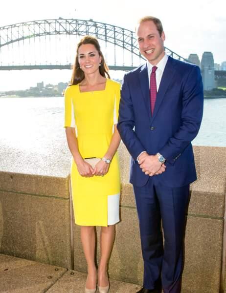 Le couple royal devant le célèbre Harbour Bridge de Sydney