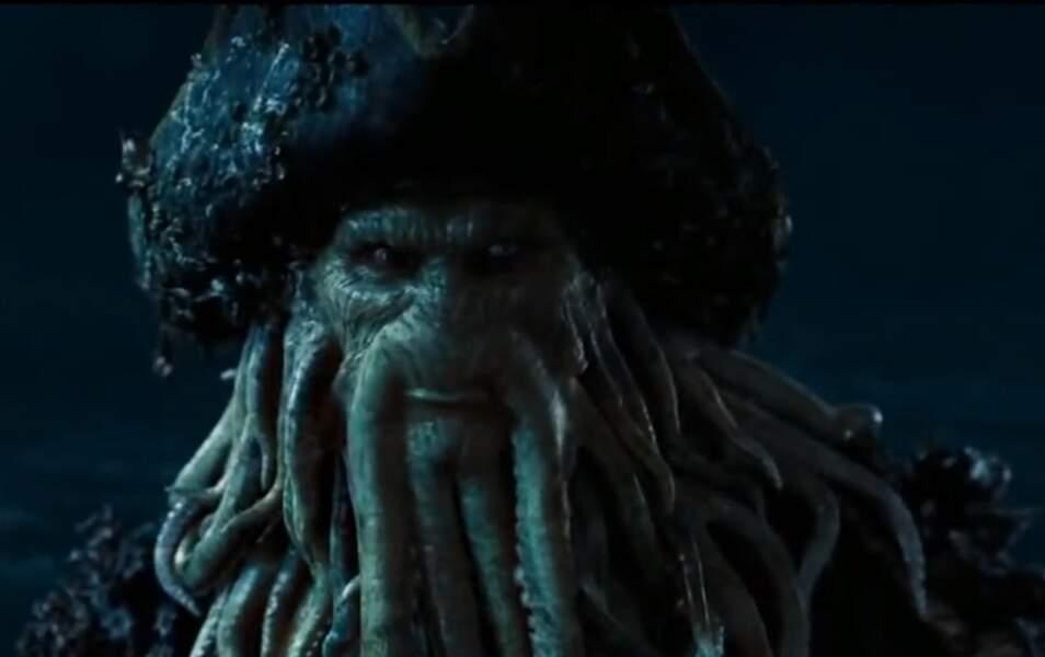 """Davy Jones dans """"Pirates des Caraïbes"""" est..."""