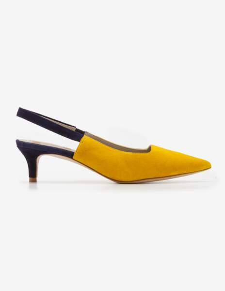 Boden. Kitten heels, En daim et cuir, 150 €
