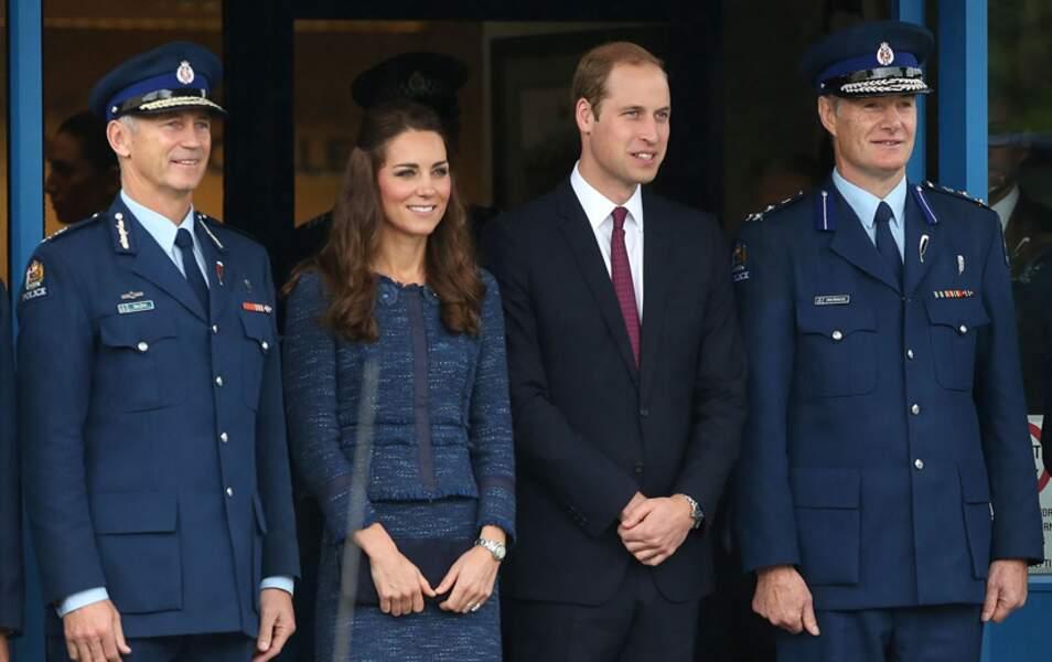 Dernière visite sur le sol néo-zélandais pour Kate et William, le Royal New Zealand Police College