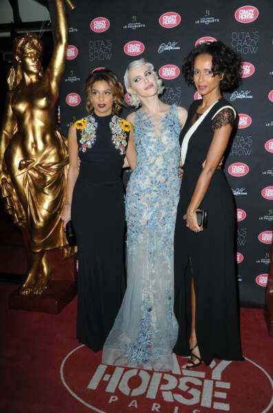 Crazy Show  : Tal Benyerzi, Aria Crescendo et Sonia Rolland posent ensemble