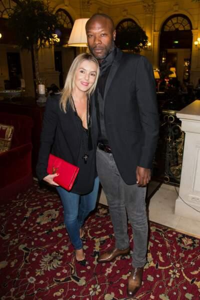 Le footballeur William Gallas et sa femme