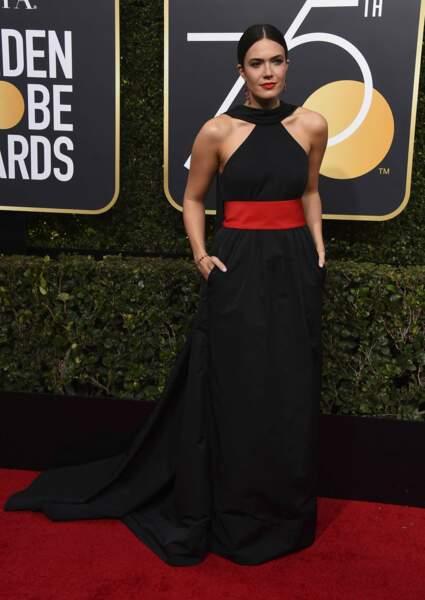 Mandy Moore lors de la 75e cérémonie des Golden Globes, le 7 janvier 2018