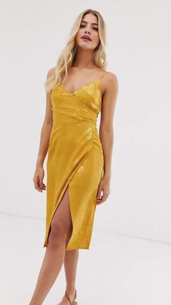 Robe mi-longue en satin, New Look, 38,99€