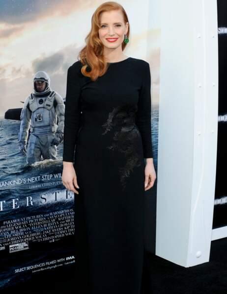 Jessica Chastain toute en noir