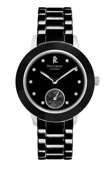 Montre. Bracelet céramique noir, 064K939, 159€, Pierre Lannier.