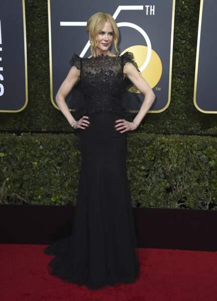 Nicole Kidman en Givenchy lors de la 75e cérémonie des Golden Globes, le 7 janvier 2018