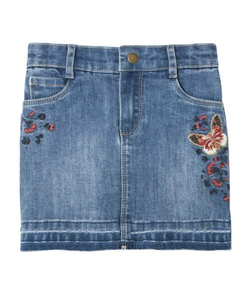 Jupe. En jean, 14,99€, Gemo.