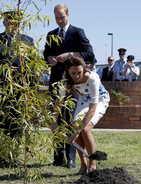 Le prince William et Kate ont planté un arbre dans le jardin du souvenir