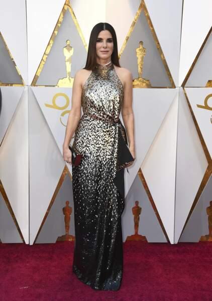 Sandra Bullock à la 90e cérémonie des Oscars, à Los Angeles le 4 mars 2018