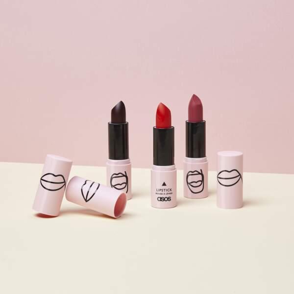 Les rouges à lèvres mats ASOS Make-Up