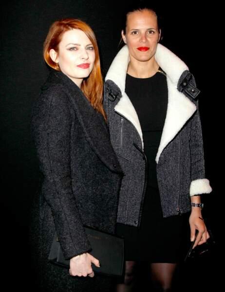 Les deux fashionistas se retrouvent avant le défilé