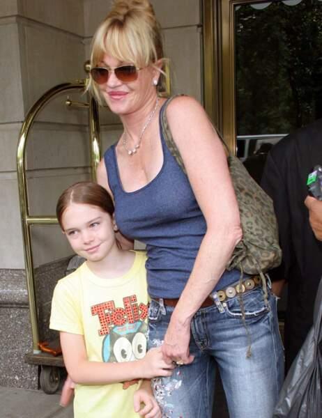 Mélanie Griffith et sa fille Dakota petite