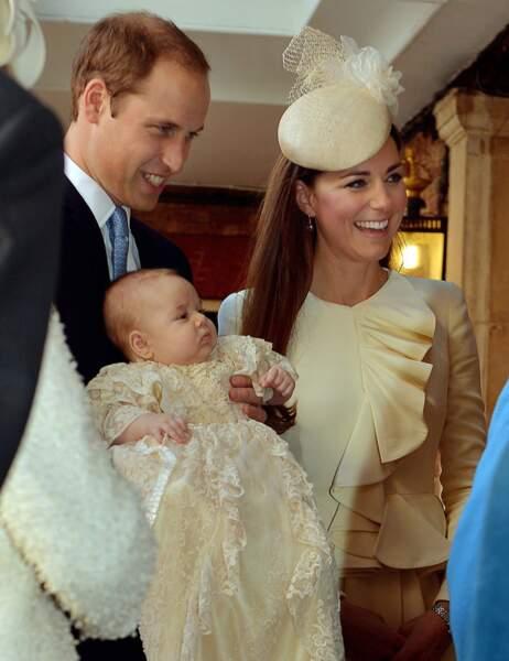 Le baptême de Baby George à la chapelle royale du palais Saint James