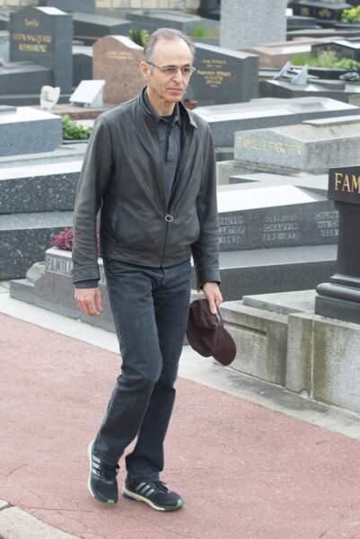 Jean-Jacques Goldman, à l'enterrement de Véronique Colucci au cimetière de Montrouge, le 12 avril 2018