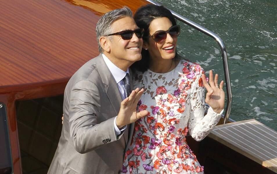 George et Amal partagent leur bonheur