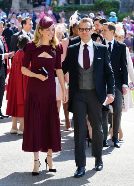 Gabriel Macht de Suits et sa femme Jacinda Barrett au mariage d'Harry et Meghan