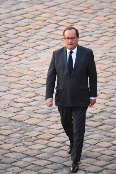 François Hollande à l'hommage national à Charles Aznavour