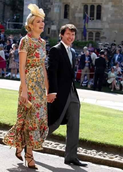 James Blunt et son épouse Sofia Wellesley au mariage d'Harry et Meghan