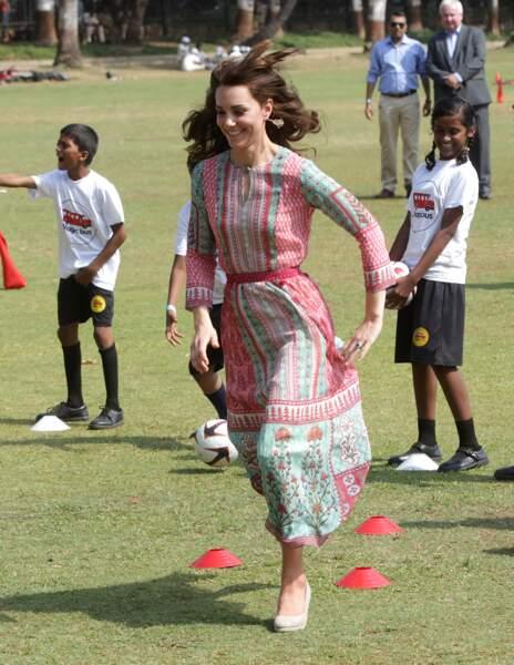 Surexcitée, la duchesse de Cambridge n'a pas ménagé ses efforts