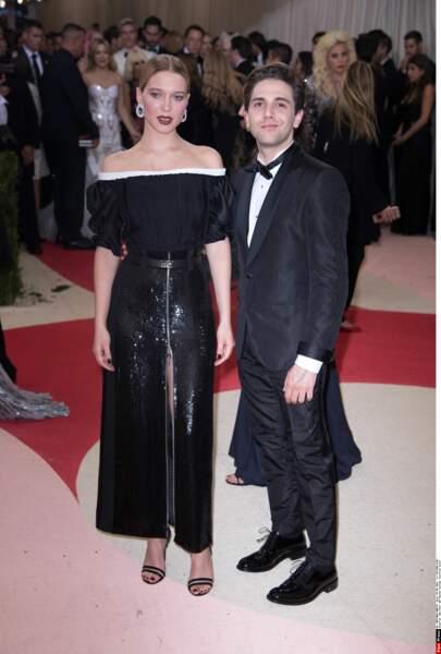 Léa Seydoux et Xavier Dolan en Louis Vuitton