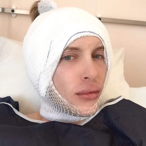 Quentin poste d'ailleurs sur Instagram des photos de ses opérations