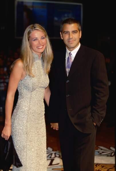 Céline Balitran et George Clooney en couple de 1996 à 1999