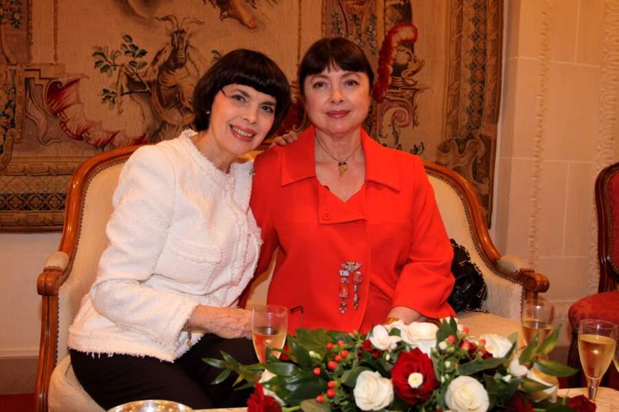 Mireille Mathieu et sa soeur Monique