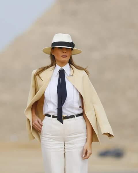 Pour l'occasion, Melania Trump avait opté pour un look très... cinématographique