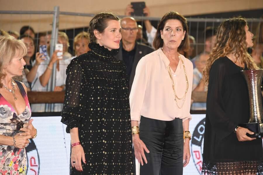 Charlotte Casiraghi enceinte avec sa mère, Caroline de Monaco
