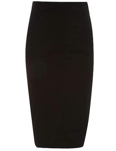 Jupe noire, 20 € (Dorothy Perkins)