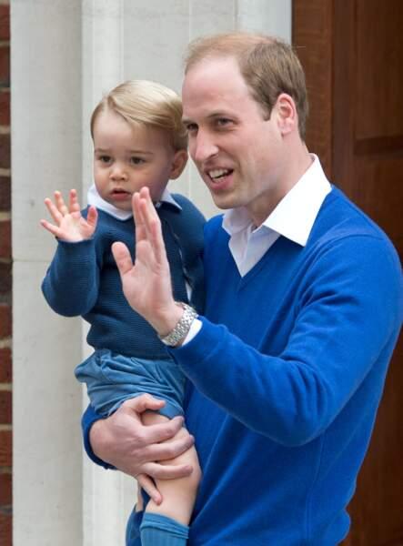 George et William pour la naissance de Charlotte