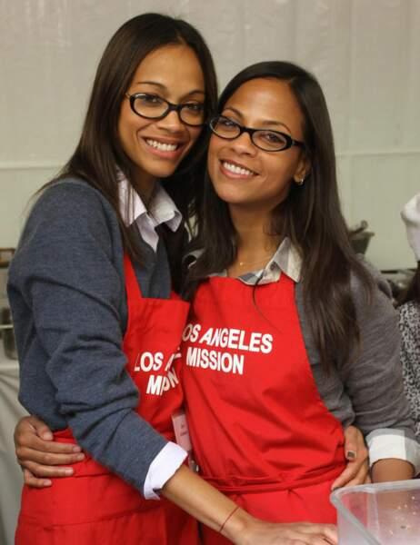 Zoe Saldana et sa soeur Cisley