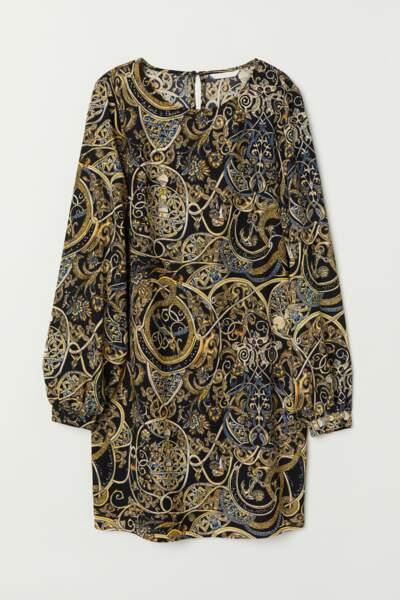 Robe courte à motifs, H&M, 19,99€