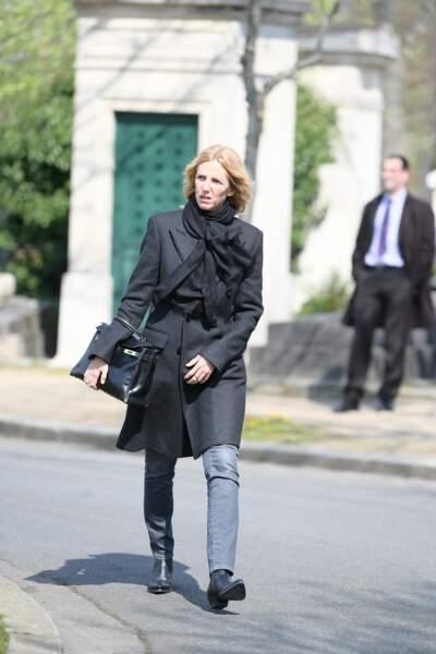Sandrine Kimberlain aux obsèques d'Agnès Varda au cimetière du Montparnasse