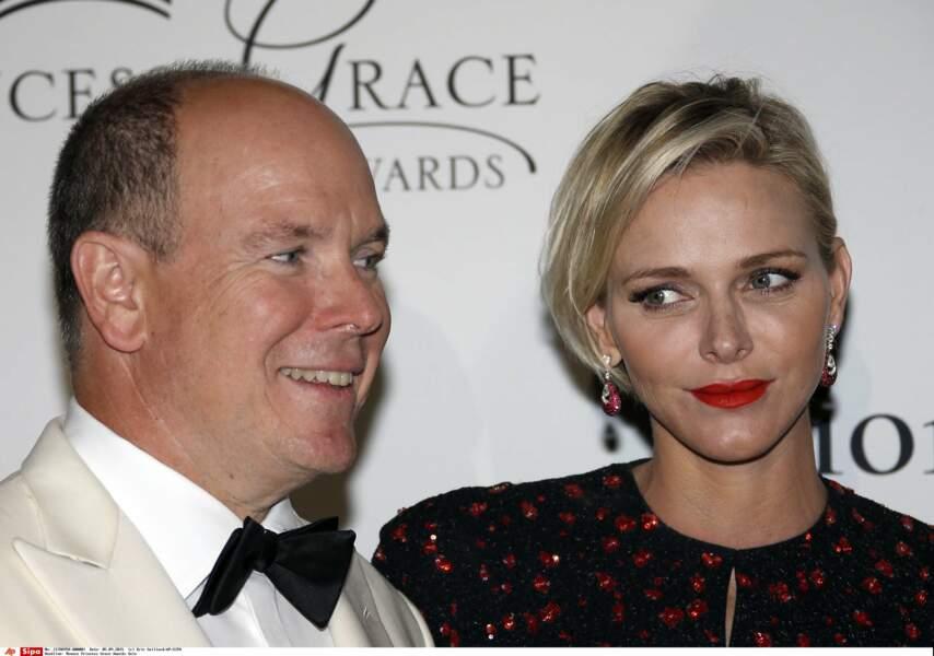 Le prince Albert II de Monaco et son épouse la princesse Charlène