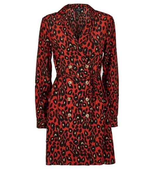 Robe chemise orange à coupe croisée, Newlook, 34,99€